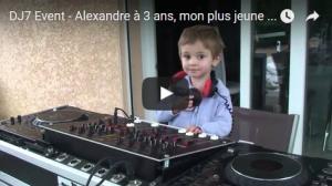DJ7 Event - Alexandre 3 ans, mon plus jeune élève - Grenoble