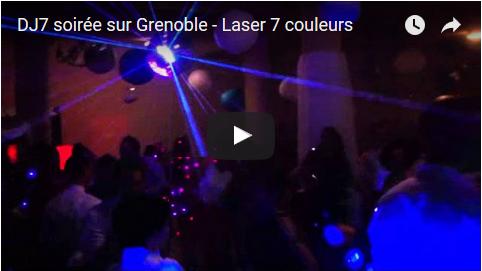DJ7 soirée sur Grenoble – Laser et boule à facettes – Mariage Isère