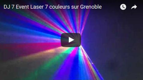 DJ 7 Event – Laser 7 couleurs sur Grenoble (Isère)